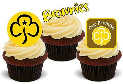 NOVELTY The Brownies Mix STAND UP / Icing Edible Cake Toppers Girl Guides kids