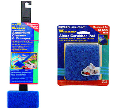 AQUA GLASS CLEANER - Aquarium Algae Fish Tank Scraper Scrubber Pad Pet dm Clean