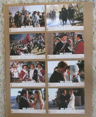 The Patriot German Movie Poster Lobby Card Set Of (8) 2000 Original 9X12