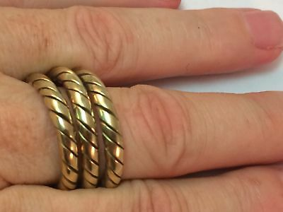 Handmade Twisted Brass Spiral Ring From Nepal