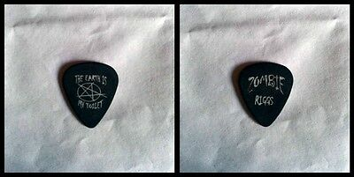 Rob Zombie Mike Riggs 'The Earth Is My Toilet' Guitar Pick