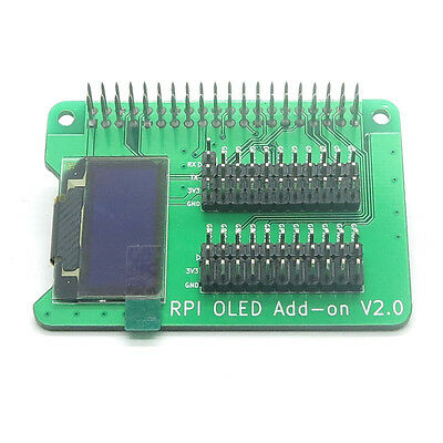 """New 0.96"""" 128*64 OLED Add-on Screen Display Stackable for Raspberry Pi"""