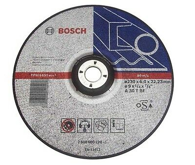 Bosch 2608600228 Metal Grinding Disc with Depressed Centre 230 x 6 x 22mm