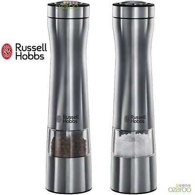Russell Hobbs Battery Operated Salt and Pepper Ceramic Grinder Mill Set 22810-56