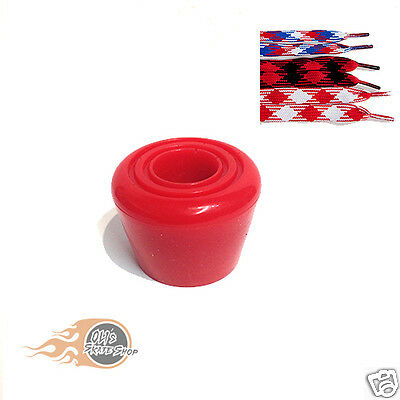 Roller Skate Toe Stops Stoppers Pair With Optional Laces Red