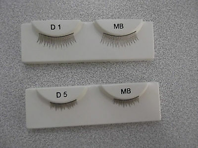 WISPY DOLL EYELASHES  IN A VARIETY OF COLOURS Code D1 & D5 See Description