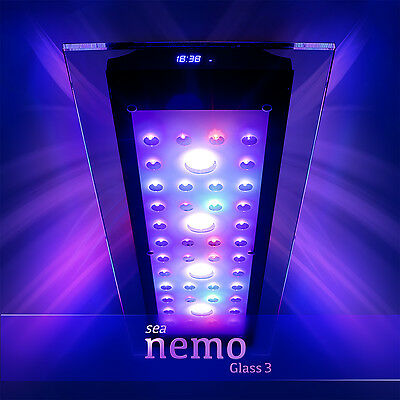 Sea Nemo Glass 3 | LED Korallen Meerwasser Aquarium Beleuchtung Lampe | eSmart