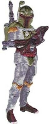 Star Wars Standing Boba Fett Figure with Blaster Embroidered Patch, NEW UNUSED