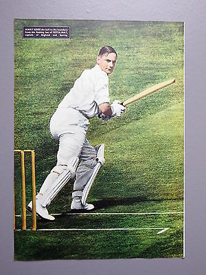 R&L Ex-Mag/Book Vintage Picture Lew Hoad, Peter May Cricket/John Savage Man City
