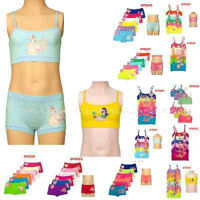 6pcs Girl's Children Sports Bra Crop Top Cami Set Seamless Wholesale Lot S M L