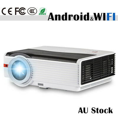 HD Android WiFi LED Home Cinema Theater Projector USB HDMI VGA WLAN DVB-T 5000lm