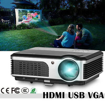 Android WiFi DVB-T TV Smart LED Home Cinema Projector HD 1080p HDMI USB 3800lm
