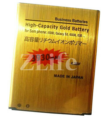 Genuine New High Capacity Gold Battery for Samsung Galaxy S3 i9300 3930mAh UK