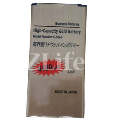 High Capacity Gold Battery for Samsung Galaxy S5 GT-i9600 / SM-G900F 4480mAh UK