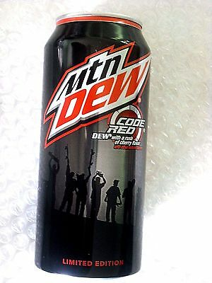 2015 MTN MOUNTAIN DEW CODE RED 16oz CAN GREEN LABEL WE ARE BLOOD PAUL RODRIGUEZ
