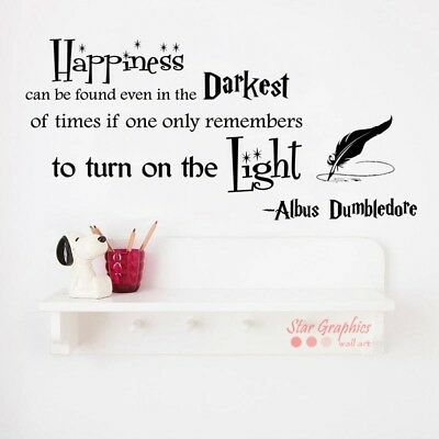 Albus Dumbledore Turn On The Light Quote Harry Potter Wall Art Sticker Decal