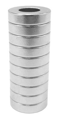 1/2 x 1/4 x 1/8 inch Neodymium Rare Earth Ring Magnets N48 (10 Pack)