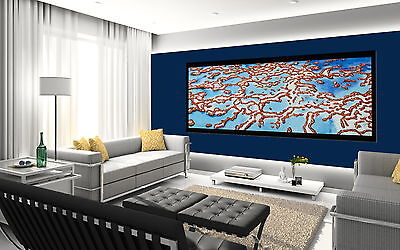 150cm x 50cm  ART  REEF CORAL  blue  print ABORIGINAL canvas not framed