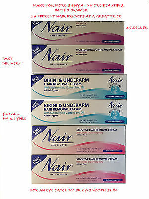 Nair HAIR REMOVAL CREAM FOR BIKINI LEGS & UNDERARMS  FLORAL FRAGRANCE ALL HAIR