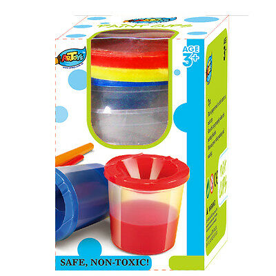2PCS Paint Cup Set 3x150ml Each Set Non-Spill Lids Lift Off for Easy Cleaning