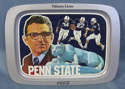 Vintage for Penn State Nittany Lions 1976 Coca-Cola Joe Paterno football Tray!