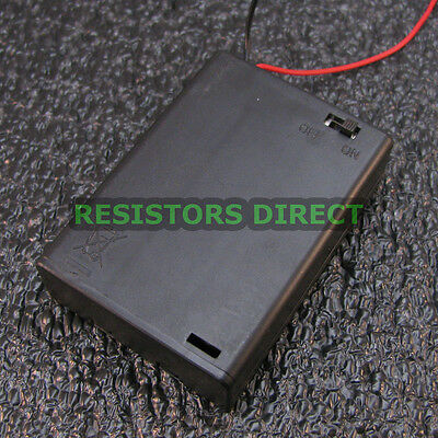 3-AA 4.5V Battery Holder with ON/OFF Toggle Swich Box Cover 3xAA AA USA NEW