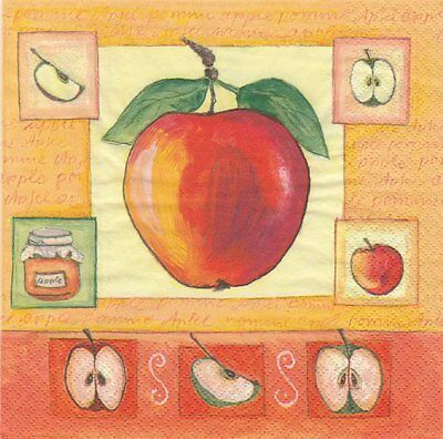 2 Serviettes en papier Fruit Agrume Orange Orangeraie Paper Napkins Orange