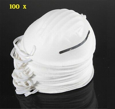 100 Nuisance Dust Mask Disposable Cleaning Molded Face Masks Respirator Filter