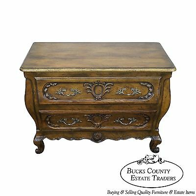 Baker Collectors Edition French Louis XV Style Walnut Bombe Chest