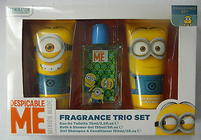 Despicable Me/Minions - Fragrance Trio Set - 75ml EDT, Shower Gel, 2in1 Shampoo