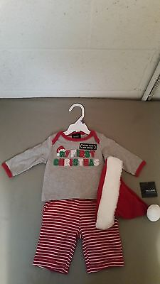 "New Holiday Editions Infant ""My First Christmas"" 3pc. Outfit Set"