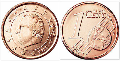 Belgium 2001 1 Euro Cent 10 Uncirculated Coin Lot (KM224)