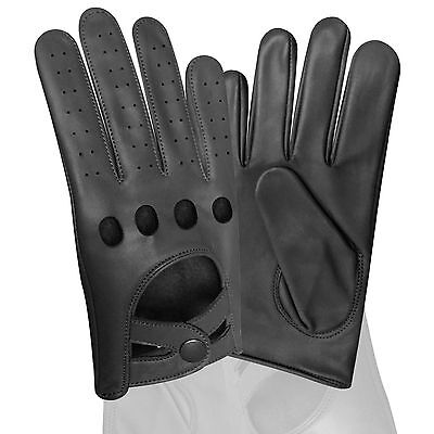Real Soft Leather Men's Quality Driving Gloves Stylish Fashion