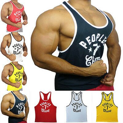 PEOPLE 7 Workout Tank Top Gym tanks bodybuilding Clothing muscle shirt vest tops