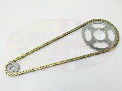 Heavy Duty Chain & Sprockets Set GOLD to fit Vulcan Custom 125