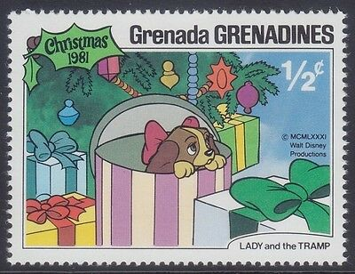Grenada Grenadines 1981 - Natale Lady And The Tramp - Walt Disney - C. 1/2 - Mnh