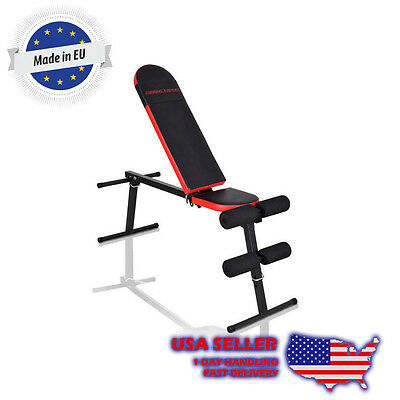 Marbo Sport Multifunctional Folding Bench for Home Gym Incline Decline