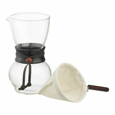 NEW HARIO DRIP POT WOODNECK Wood Dripper Glass Coffee Cup Pour Over Cone Filter