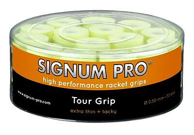 Signum Pro Tennis Overgrip - Tour Grip 0.50mm - Box of 30 - Yellow