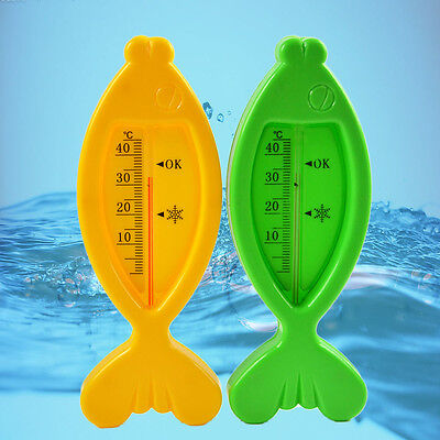 Fish Baby Bath Floating Water Sensor Thermometer Plastic Float Toy Tub WFEU