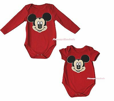 Infant Newborn Mouse Red One Piece Baby Girls Jumpsuit Bodysuit Romper NB-18M
