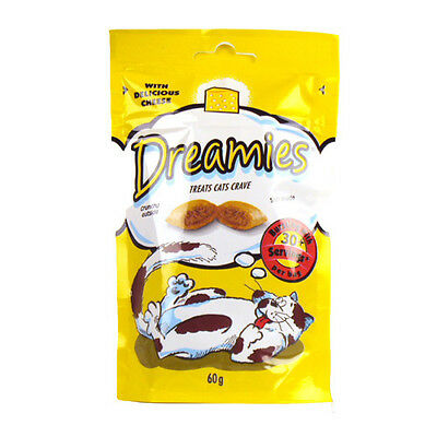Dreamies Treats Cat Delivious Cheese 60g  - Filled with a delicious soft centre.