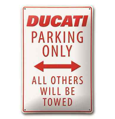 *SONDERPREIS*  ORIGINAL DUCATI  Parking Metallschild / Schild