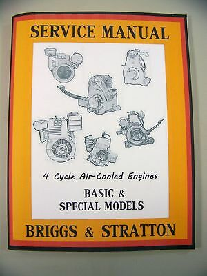 Briggs Stratton Nr2 Nr6 Npri.6 Npr6 Engine Service Shop Overhaul Repair  Manual