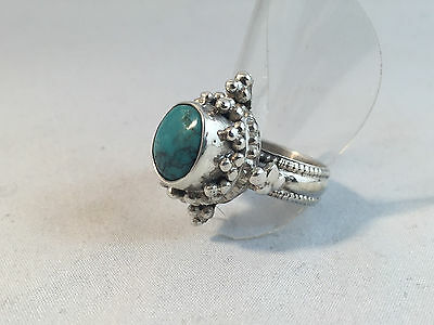 Vintage Sterling Silver Ring with Turquoise Stone