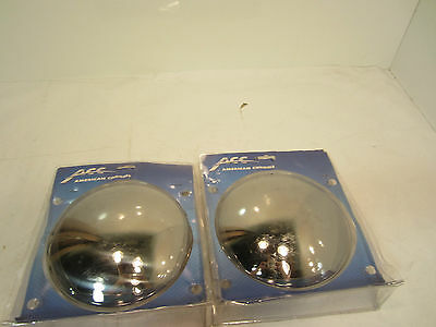 "AMERICAN CHROME 16903 rear stainless steel axle hub cap 7.25"" (lot of 2)"