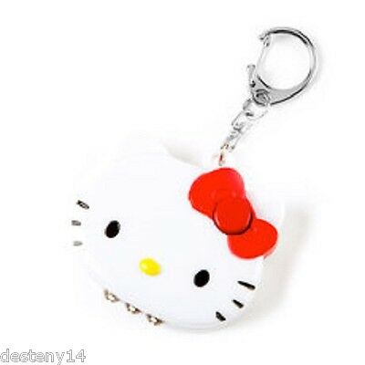 Hello kitty 3 LED light Up key Chain NWT