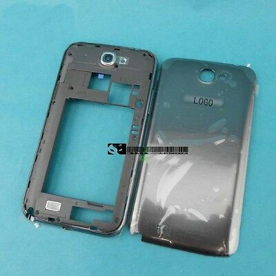 For Samsung Galaxy Note 2 N7100New OEM Gray Housing Middle Frame Battery Cover