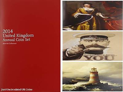 2014 Royal Mint Brilliant Uncirculated Annual Coin Set Booklet