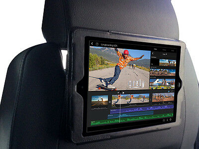 Orzly Apple iPad Air In Car Headrest Case Cover Back Seat Holder- Black